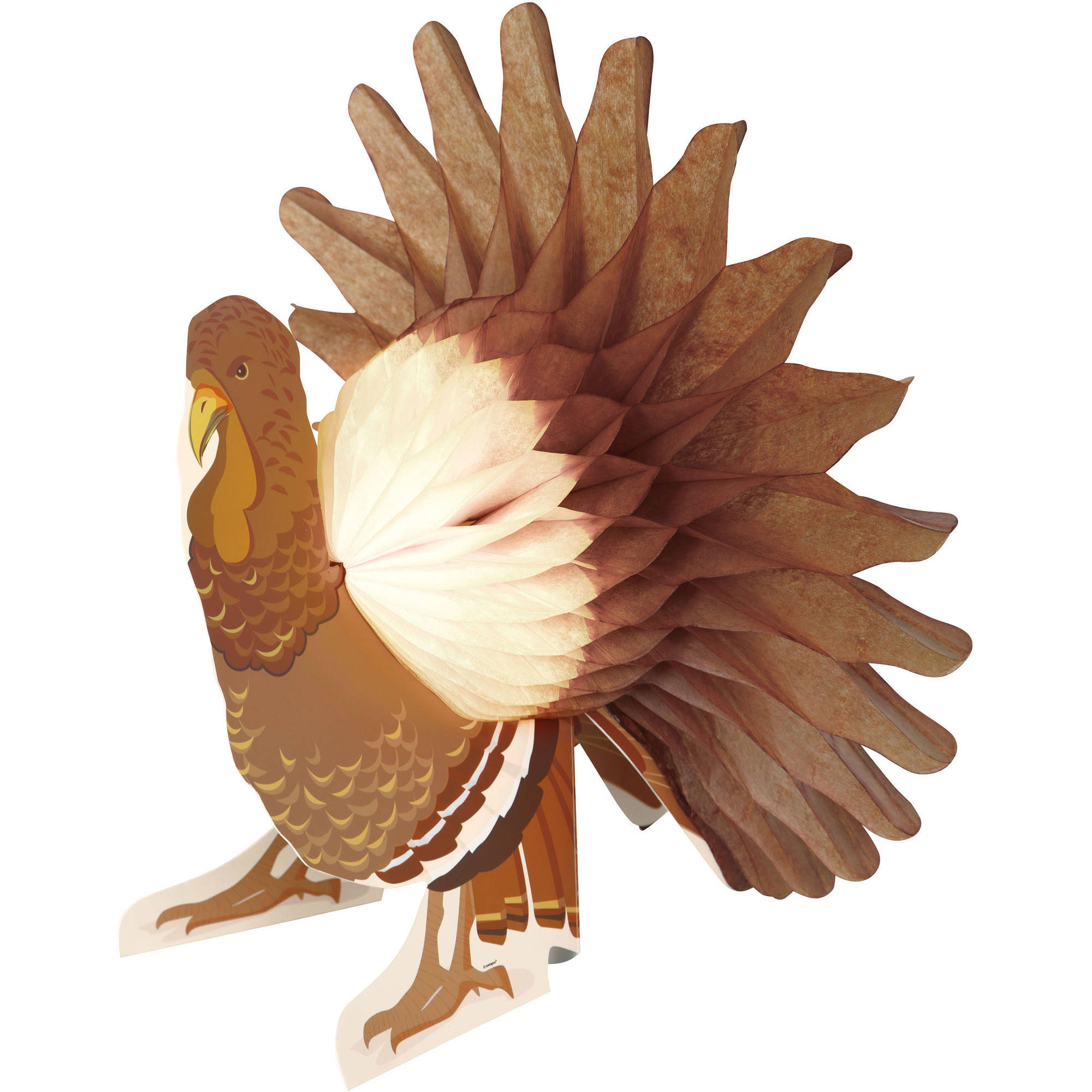 Turkey Thanksgiving Centerpiece Decoration, 13 in, 1ct