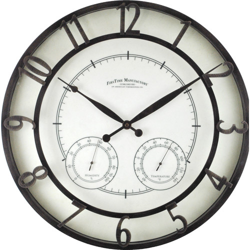 FirsTime Park Outdoor 18.75'' Wall Clock