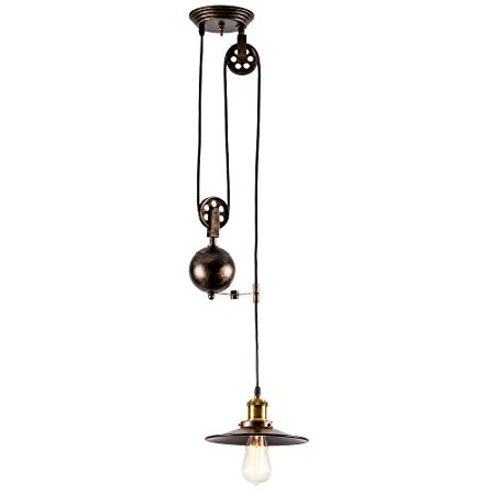 Pendant Light Industrial Pulley Moonkist Chandeliers Edison
