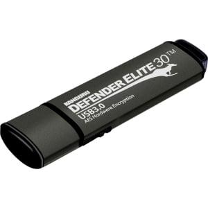 Kanguru Defender Elite30, Hardware Encrypted, Secure, SuperSpeed USB 3.0 Flash Drive, 128GB