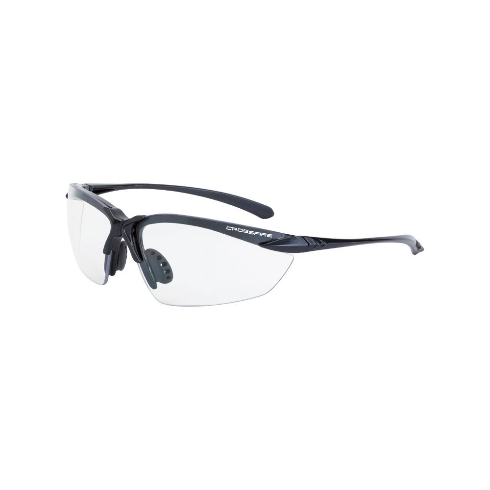 924 Sniper Safety Glasses with Black Frame and Clear Lens, Meets ANSI Z87.1 Standards By Crossfire Eyewear