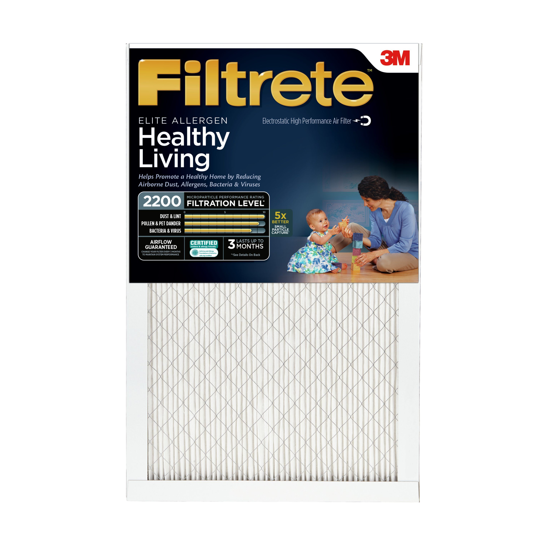 Filtrete Elite Allergen Reduction HVAC Furnace Air Filter, 2200 MPR, 14 x 20 x 1, 1 Filter