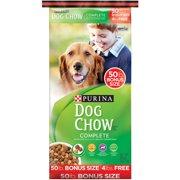 Purina Dog Chow Complete Dog Food Bonus Size 50 lb. Bag