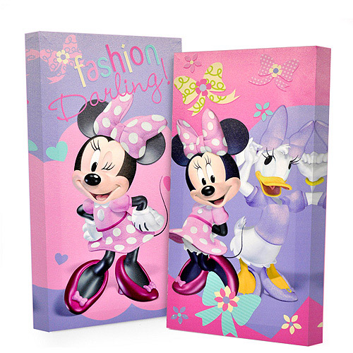 Disney Minnie Mouse Glow in the Dark 2-Pack Canvas Wall Art