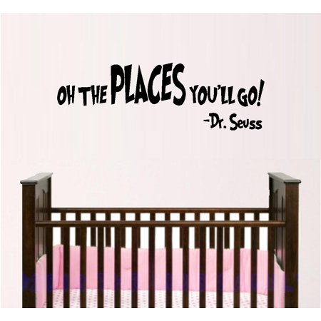 Decal ~ Oh The Placed You'll go #2:  WALL  DECAL, Dr. Seuss Theme HOME DECOR 11