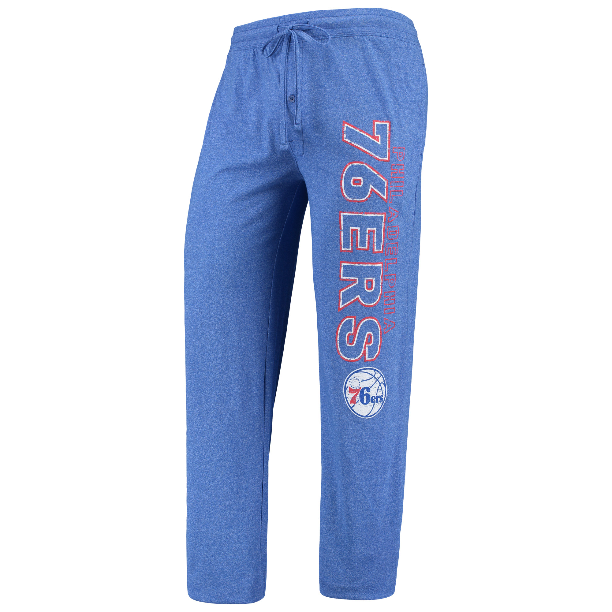 Philadelphia 76ers Concepts Sport Quest Open Leg Pants - Heathered Royal