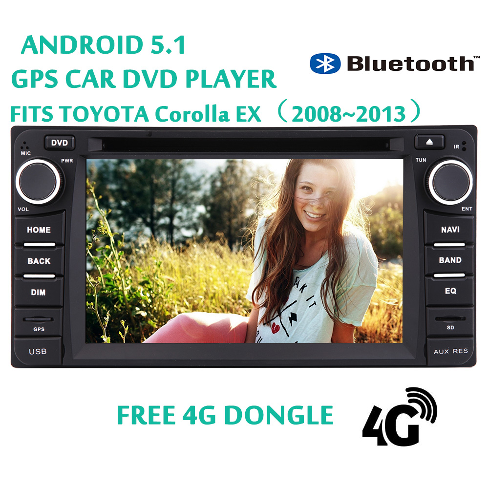 4G Dongle + Andriod 5.1 Quad Core Eincar 2 Din PC System SD Car DVD Player USB Video Car Stereo Autoradio FM... by EinCar