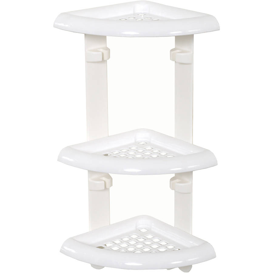 "Zenna Home 480W 10.50"" x 18.50"" x 7.13"" White 3-Shelf Shower Caddy by Zenith Products"