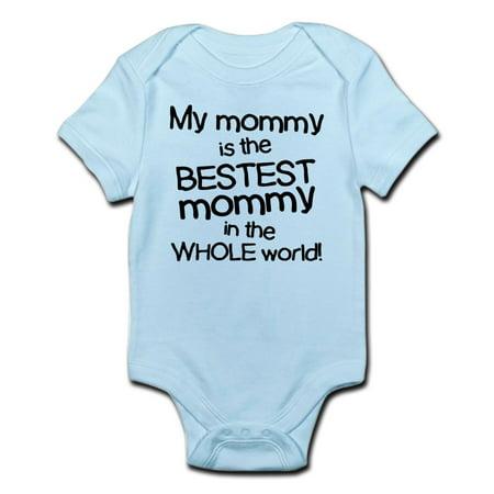 My Mommy Is Bestest Infant Bodysuit - Baby Light Bodysuit