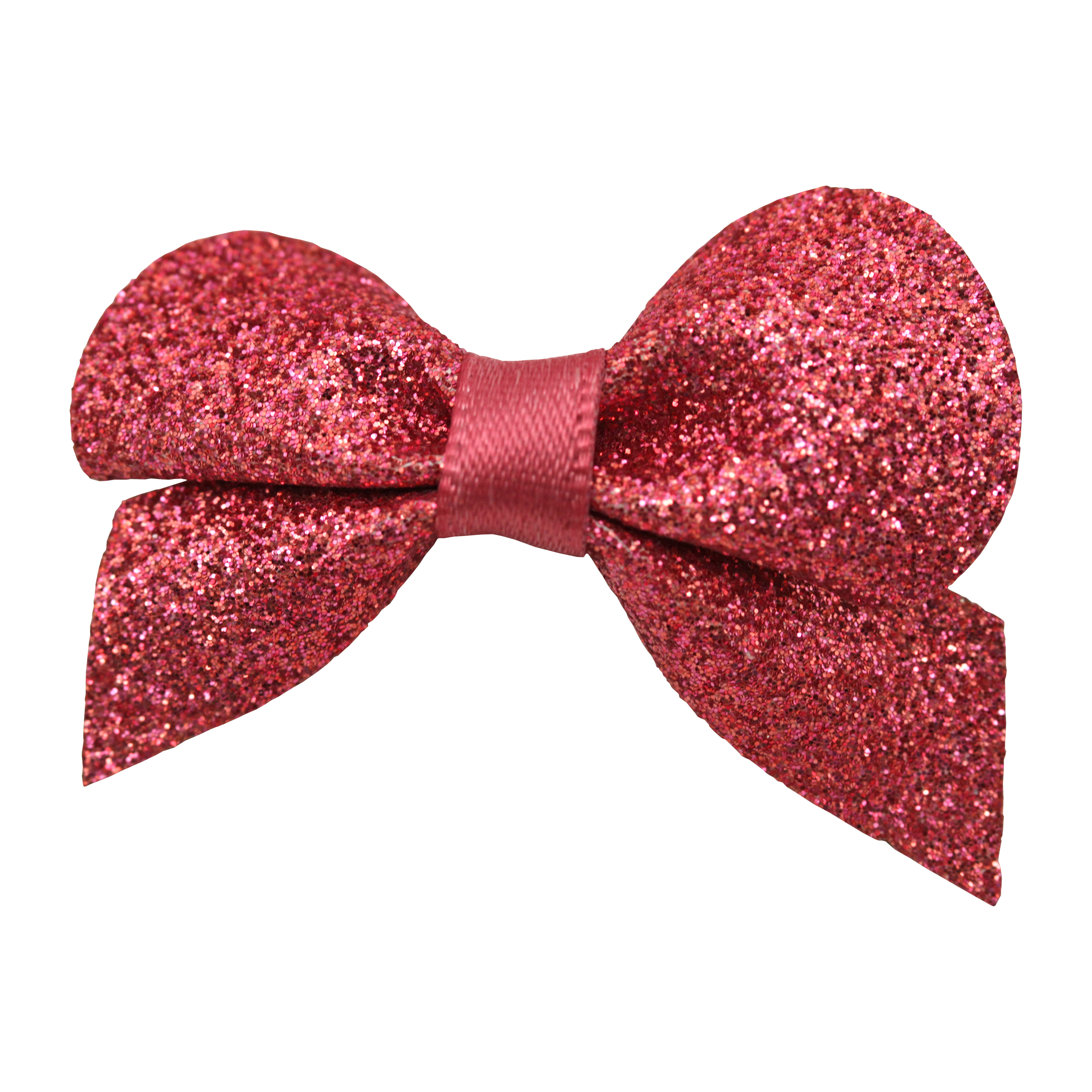 Satin Hot-Pink Glittery Bow