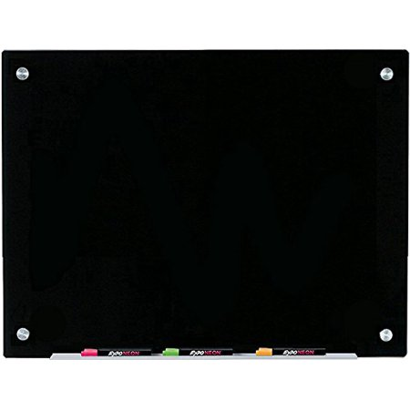 Audio-Visual Direct Black Glass Dry-Erase Board Set - 17 3/4 x 23 5/8 Inches - (Non-Magnetic) - image 1 of 1