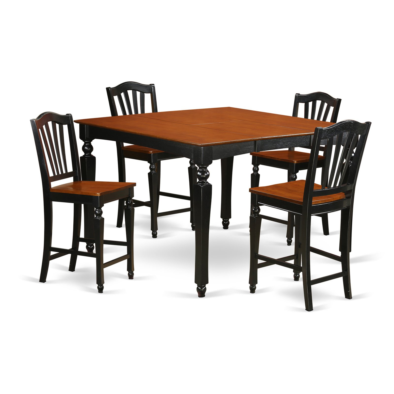 East West Furniture Chelsea 5 Piece High Splat Dining Table Set