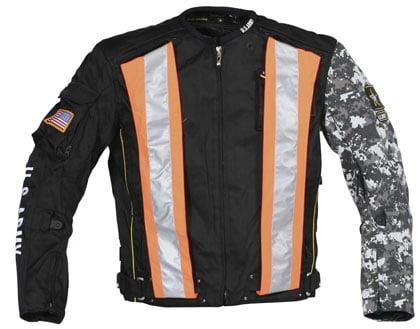Joe Rocket Army Alpha X Mens Black Textile Jacket Small