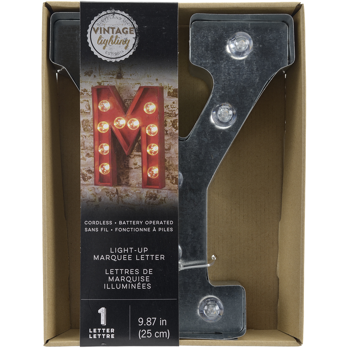 "Silver Metal Marquee Letter 9.875""-Y"