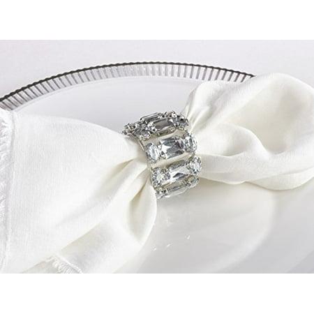 Fennco Styles Modern Round Clear Napkin Ring - Set of 4 ()