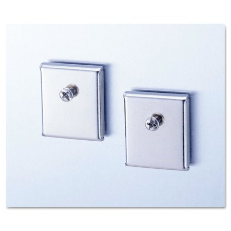 Cubicle Accessory Mounting Magnets, Silver, Set Of 2 (Cubicle Accessory Mounting Magnets)