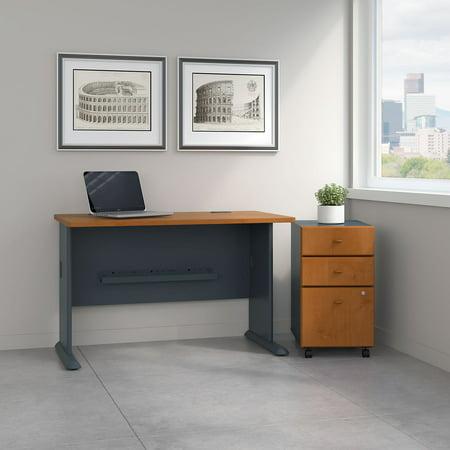 Bush Furniture Series A 48 in. Desk with Mobile File Cabinet