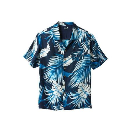 KS Island by KingSize Men's Big & Tall KS Island Tropical Rayon Short-Sleeve Shirt
