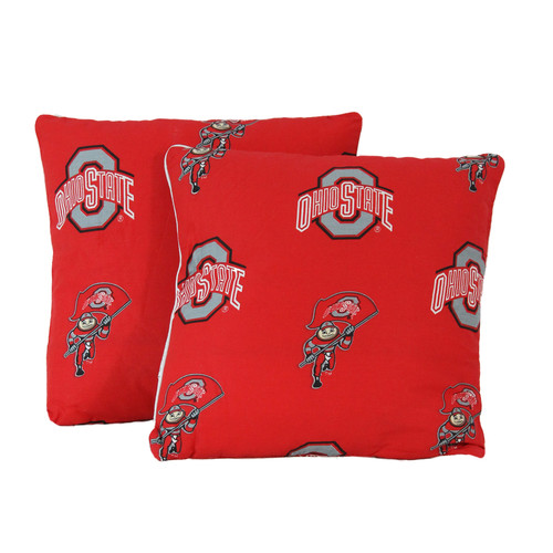 College Covers NCAA Ohio State Decorative Cotton Throw Pillow (Set of 2)