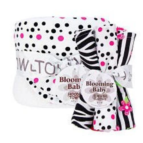 Trend Lab Hooded Towel and 5 Pack Wash Cloth Set, Zahara