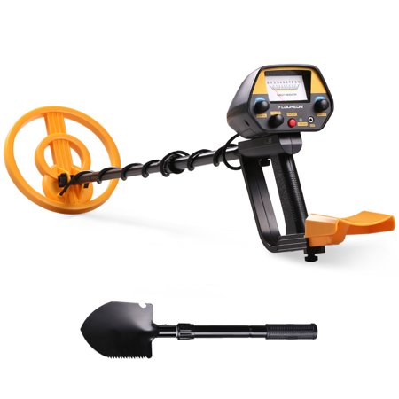 URCERI GC-1069 Waterproof High Accuracy Treasure Hunter Metal Detector with Pinpointer for Beginners Professionals, Yellow New Metal Detector