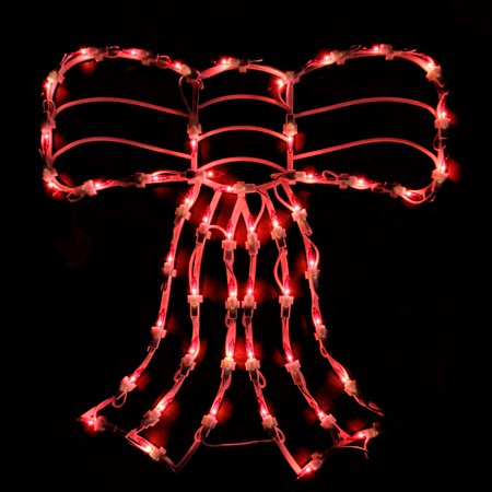 Northlight Lighted Bow Christmas Window Silhouette ()