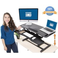 """Stand Steady FlexPro Hero Two Level Standing Desk - Easily Sit or Stand in Seconds! Large Stand Up Desk Converter with Removable Extra Level for Keyboard & Mouse! (Large - 37"""")"""