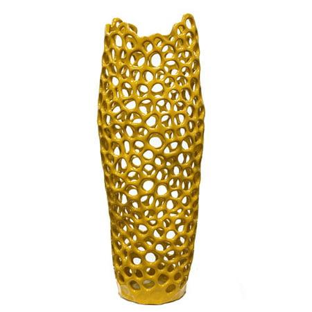Large Yellow Hyde Pierced Vase Walmart