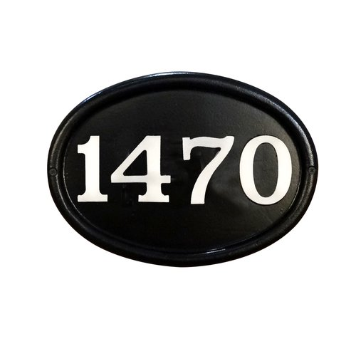Special Lite Products Contemporary Cast Aluminum Address Plaque with Brushed Aluminum Numbers - Bold Italic Font