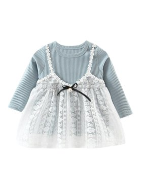 c21d1bfef3ec Product Image Kacakid Toddler Kids Baby Girls Long Sleeve Lace Tutu Dress  Princess Party Pageant Dress