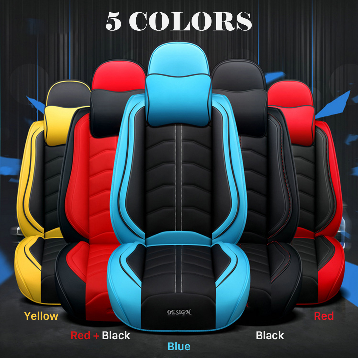 5-Seats Car SUV Comfort Linen Seat Covers M Size Front+Rear Cushion w//Pillow Set