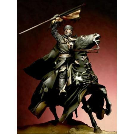 Order Metal - Pegaso Models 90mm Saint John Order Knight White Metal Figure Kit #90-913