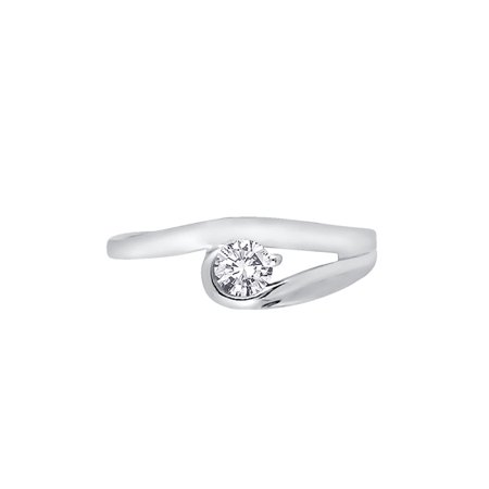Diamond Promise Ring in 14K White Gold (1/4 cttw, G-H, I2-I3)