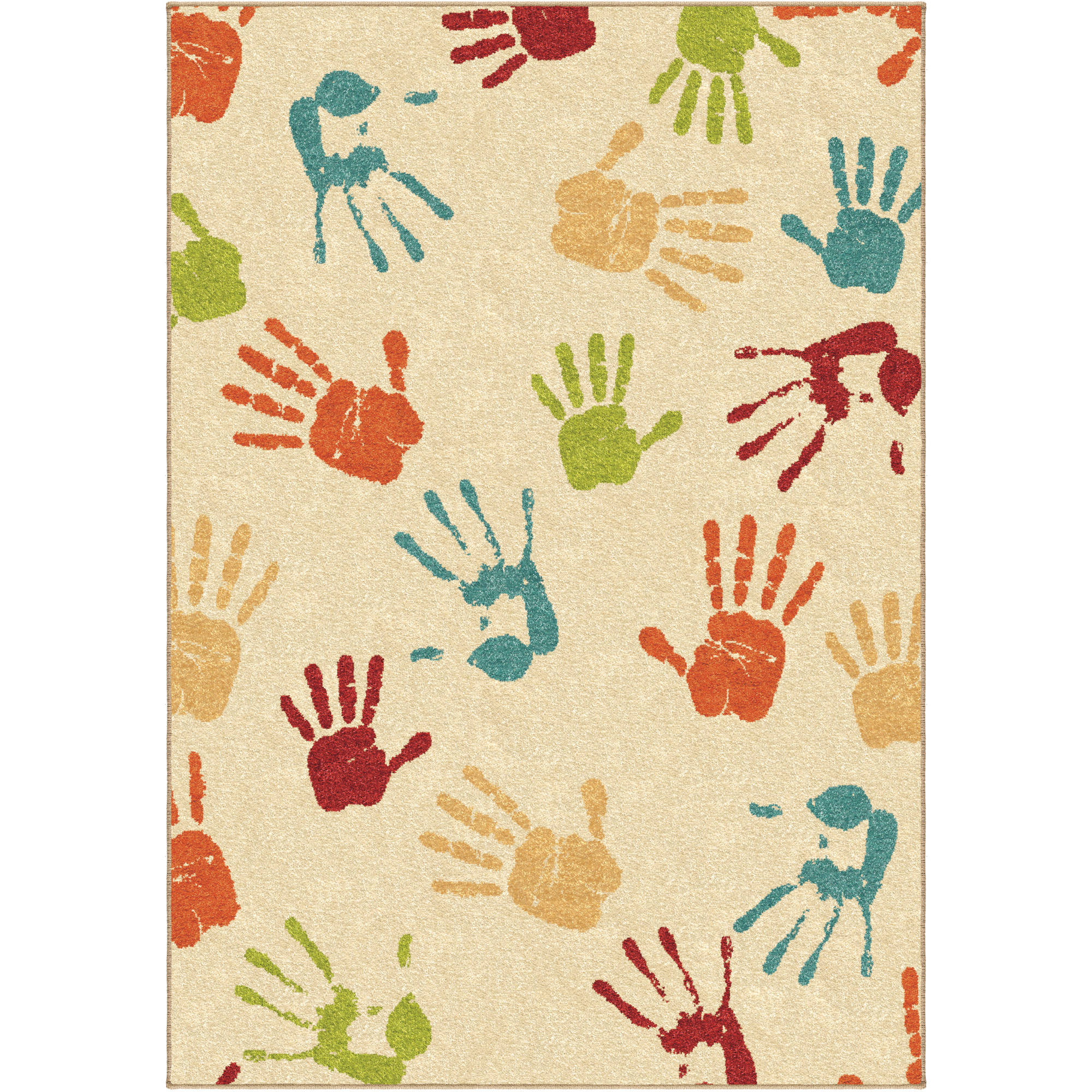 Orian Handprints Fun Kids' Area Rug