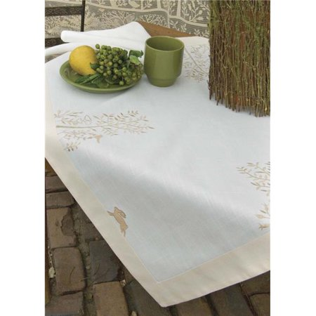 Late Rabbit (Heritage Lace RH-3636 Rabbit Hollow 36 x 36 in. Table)