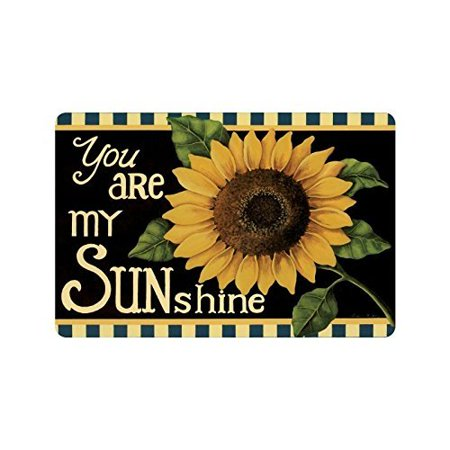 Door Mat Floor Mat (WinHome Sunflower Flower Floral,You Are My Sunshine Doormat Floor Mats Rugs Outdoors/Indoor Doormat Size 23.6x15.7)