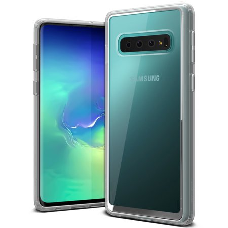 Galaxy S10 Case VRS Design Anti-Yellowing Crystal Clear Slim Soft Protective Reinforced Corners [Crystal Chrome] [Transparent] Acryl Back Cover Compatible with Samsung Galaxy S10 6.1 inch (2019)