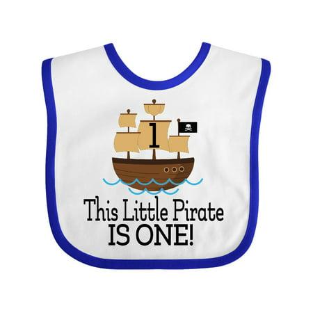 Pirate 1st Birthday Party Baby Bib