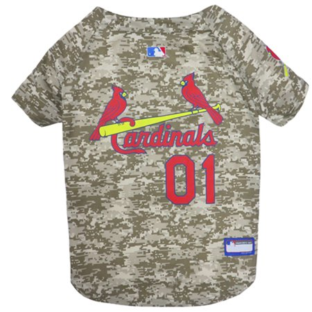 Pets First MLB St Louis Cardinals Camouflage Jersey For Dogs, Pet Shirt For Hunting, Hosting a Party, or Showing off your Sports Team, Medium