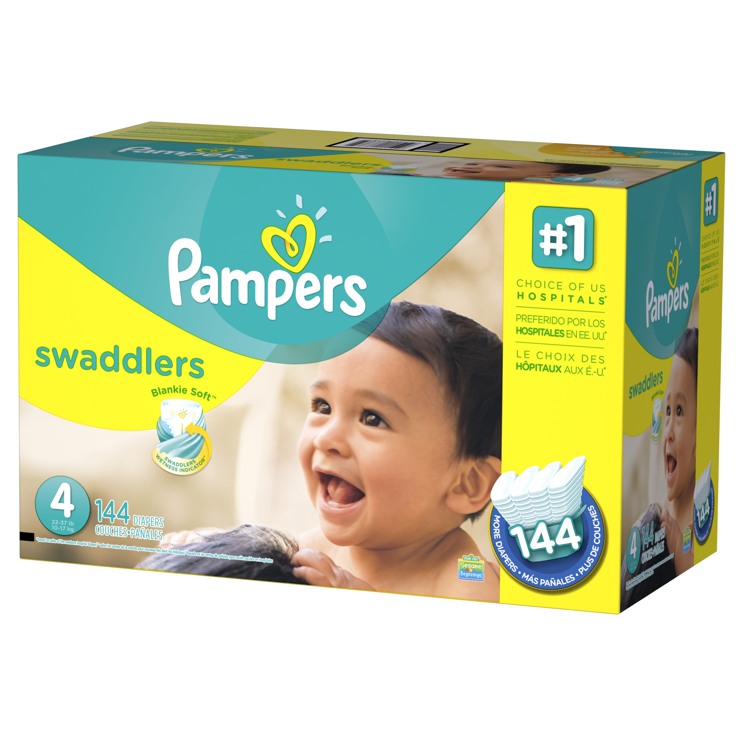Pampers Swaddlers Diapers Size 4 144 count