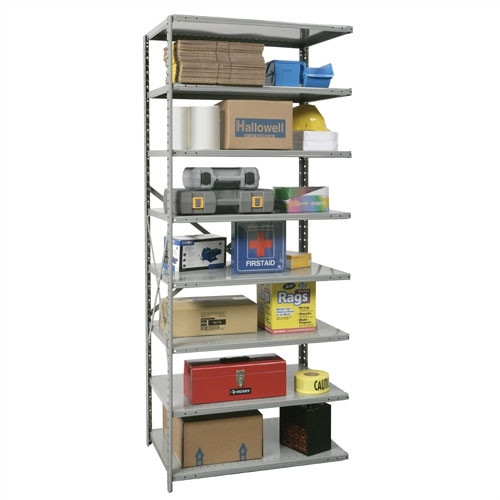 Hallowell Hi-Tech Open Type Adder 7 Shelf Shelving Uni