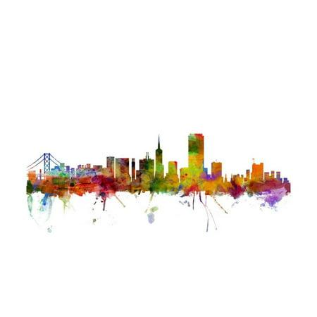 San Francisco City Skyline Print Wall Art By Michael Tompsett (San Francisco City Wall Art)