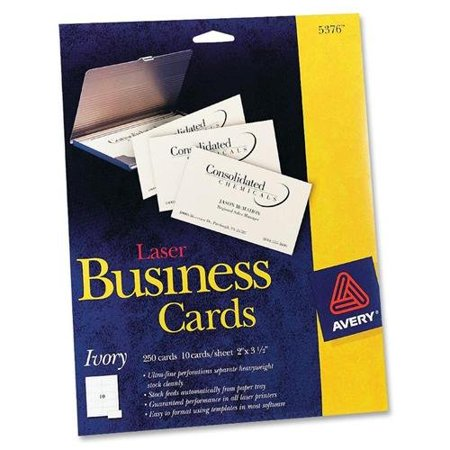 Avery business card for laser print a8 2quot x 350 for Walmart business card printing