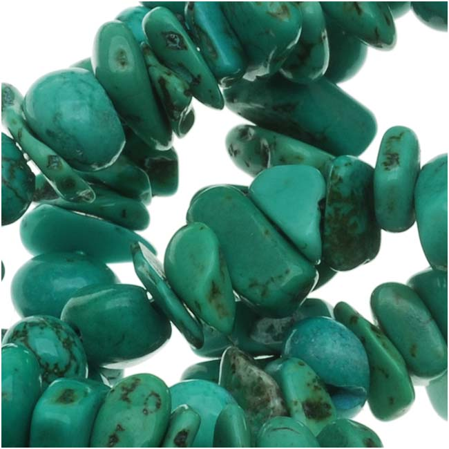 Turquoise Nuggets Chips Beads 5-8mm/15 Inch Strand