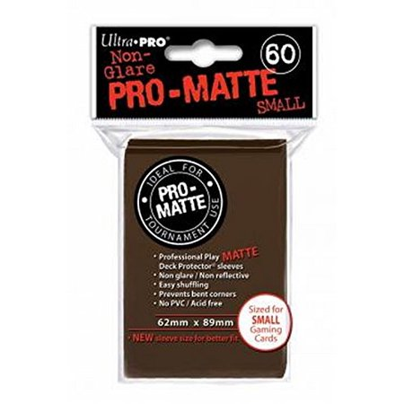 Ultra-Pro Pro-Matte Sleeves - Brown, Small - for Yu-Gi-Oh, Cardfight/CFVG (60 Deck Protectors), 074427842710 By Ultra Pro Max Pro Deck Protector