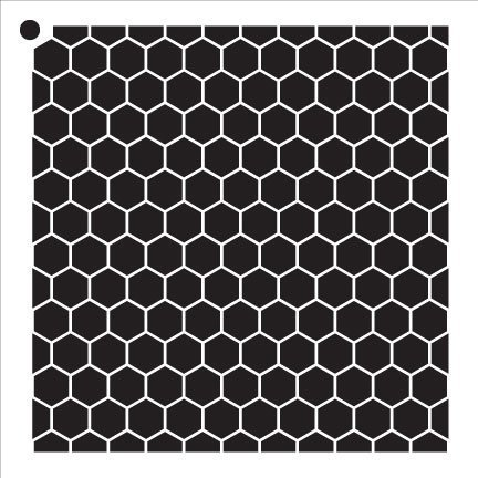 Honeycomb Stencil by StudioR12 | Country Repeating Pattern Stencil- 6 x 6-inch Reusable Mylar Template | Painting, Chalk, Mixed Media | Use for Journalingt, DIY Home Decor - STCL810_1 Craft Stencil Template Pattern
