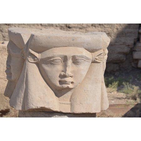 Canvas Print Ancient Hathor Goddess Egyptian Cow Goddess Stretched Canvas 32 x