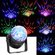 Tebru Rotating Stage Light,LED Spotlight Stage Light Ball Disco DJ Party KTV Rotating Effect Projector 100-240V,LED Ball Projector