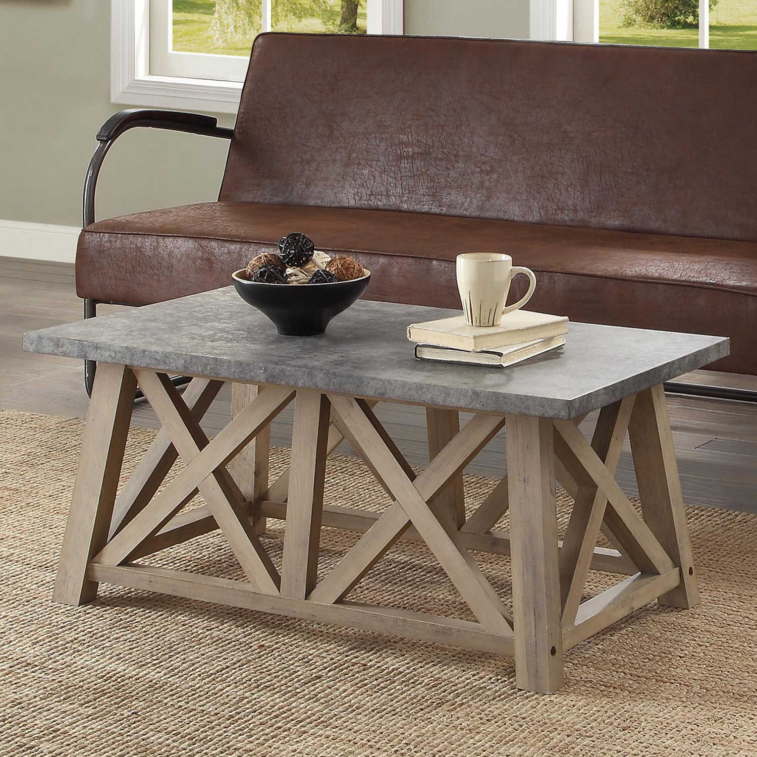 Better Homes and Gardens Granary Modern Farmhouse Coffee Table, Multiple Finishes by .