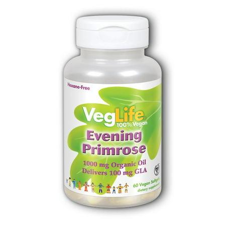 Evening Primrose Bath Oil (Organic Evening Primrose Oil VegLife 60 Veg Softgel)